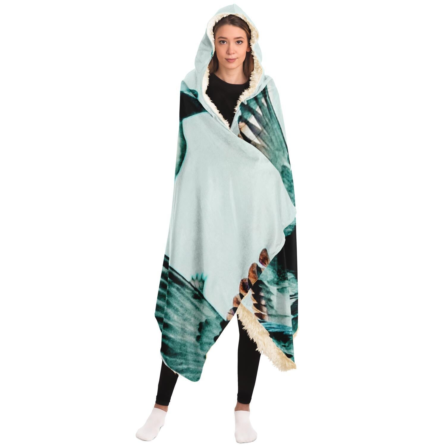 Birds in Flight Hooded Blanket