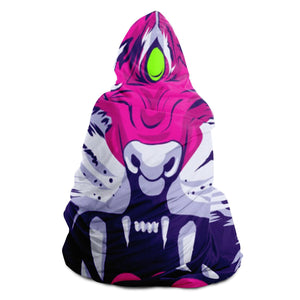 Seven Eyed Tiger Hooded Blanket