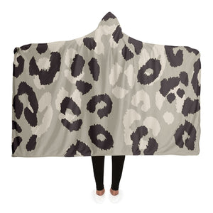 Leopard Pattern Hooded Blanket