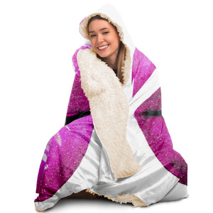 Purple Lips Hooded Blanket