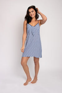 EcoVero Chemise Nightdress in Blue