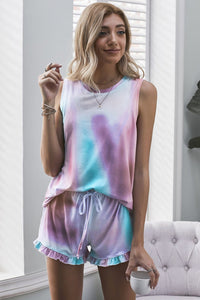 Unicorn Swingy Tank and Ruffled Shorts Loungewear