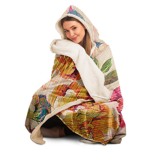 Flower Painting Hooded Blanket