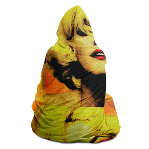 Pop Art Monroe Hooded Blanket