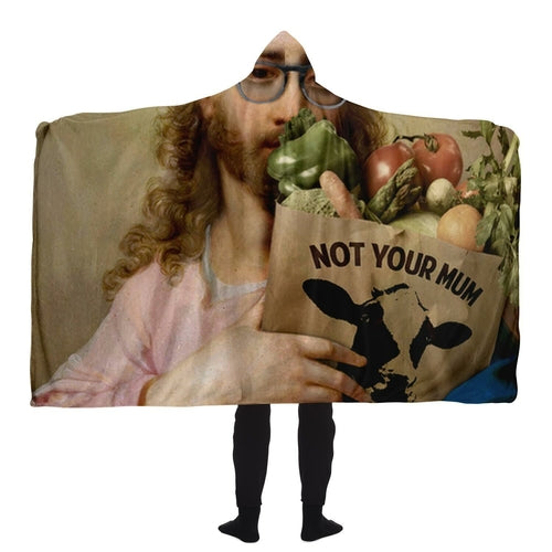 New Religion Hooded Blanket