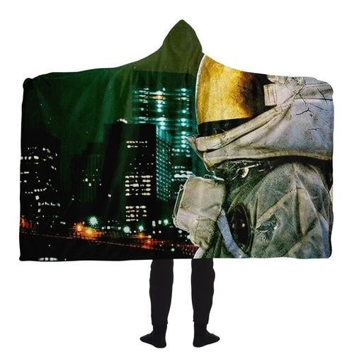 Moon and The City Hooded Blanket