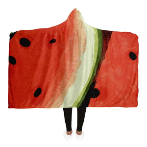 Melons pattern Hooded Blanket