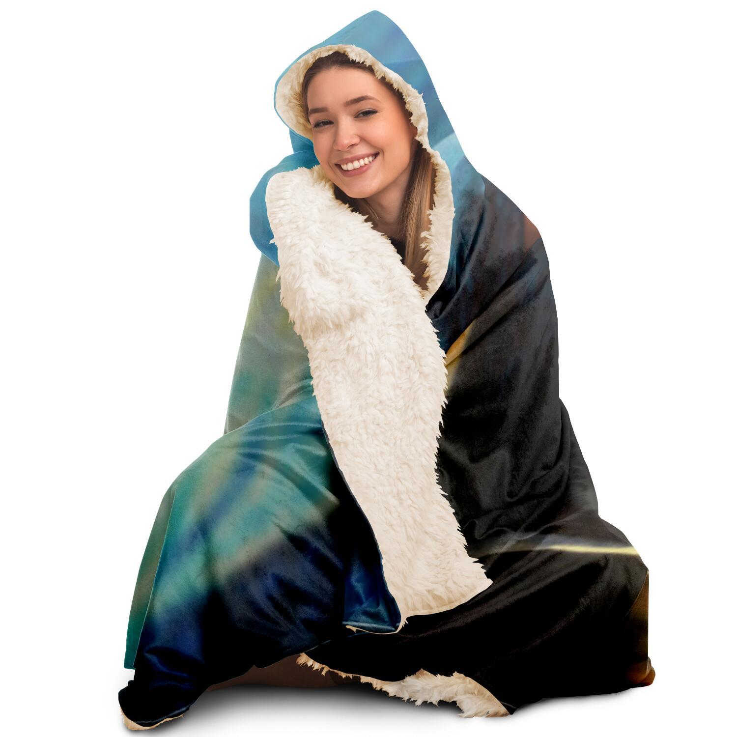 Magic of Starry Night Hooded Blanket