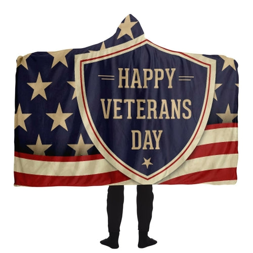 veterans day hooded blanket