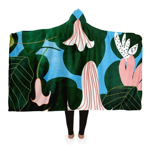 Mood Flowers Kid's sweater Hooded Blanket