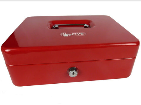 "10"" Petty Cash Box (Red)"