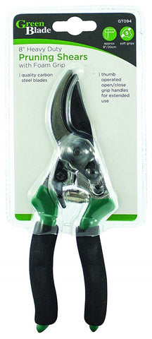 "Green Blade 8"" Garden Pruning Shears"