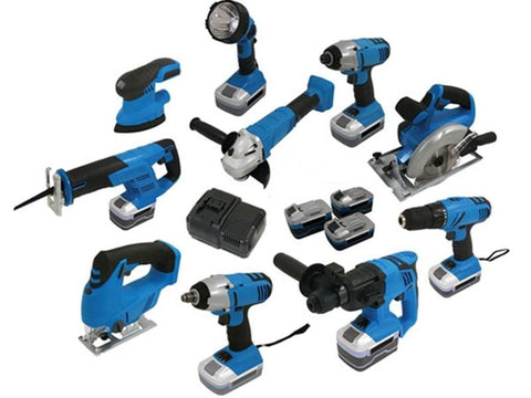 POWER4CE 10pc Cordless Power Tool Set