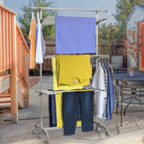 Clothes Drying Rack with Extendable Top Rail
