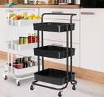Storage Trolley - 3 Tier - Black or White Available