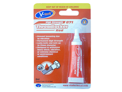 V-Tech Threadlocker Red High Strength - 6ml