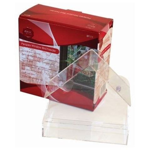Window Bird Feeder Clear Perspex