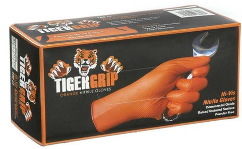 Tiger Grip Orange Nitrile Gloves