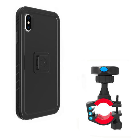 Support iPhone Xs Max Moto noir