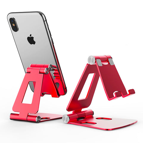 Support Smartphone Bureau Inclinable rouge