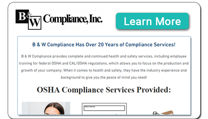 B and W Compliance - OSHA Safety & Health Compliance