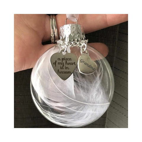 Christmas ornament feather ball