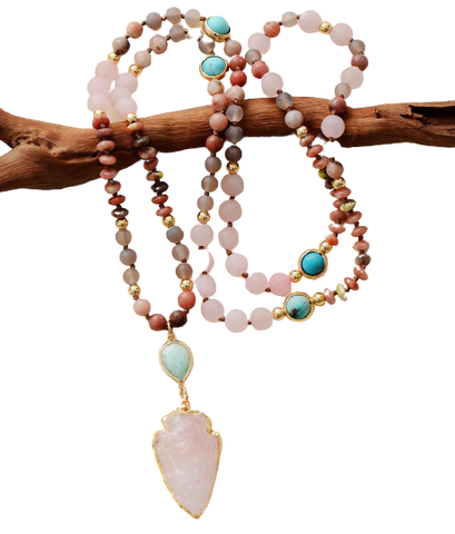 Frosted Natural Stones Necklace