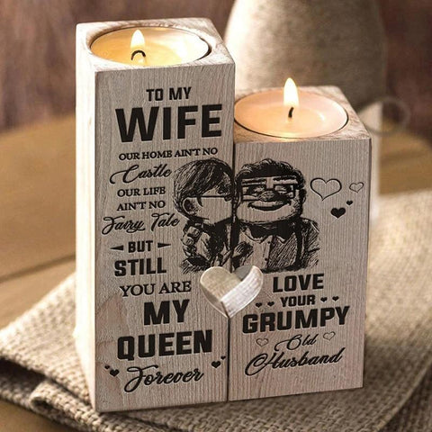 Husband to wife candle holder