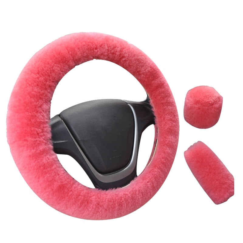 Steering Wheel Fur Cover