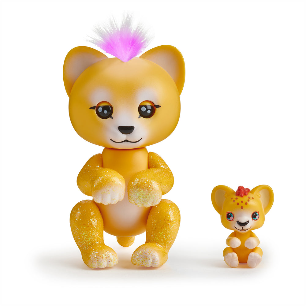 Fingerlings Light-Up Baby Lion and Mini - Sam and Leo