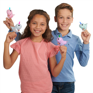 Fingerlings Light Up Narwhal - Nelly (Purple)