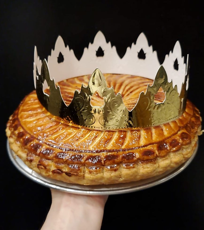 Galette des Rois with raspberry flavour
