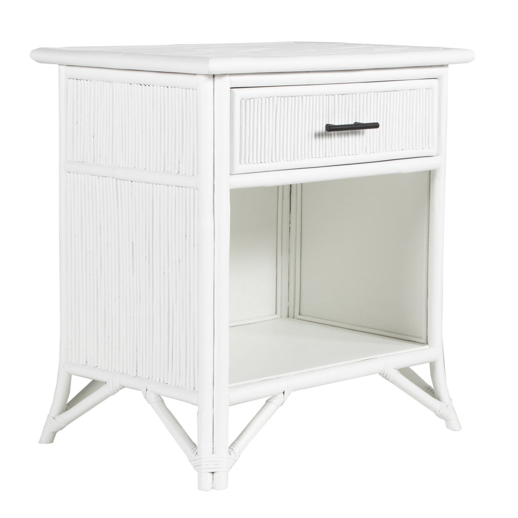 NEW! Pencil Rattan One-Drawer Nightstand