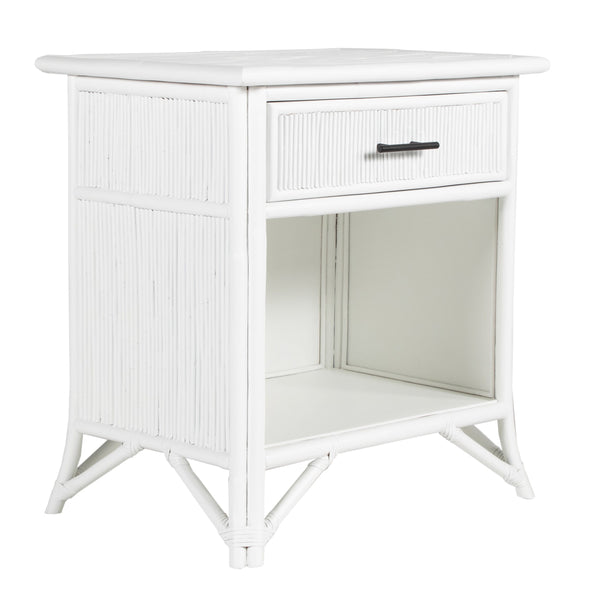 Pencil Rattan One-Drawer Nightstand