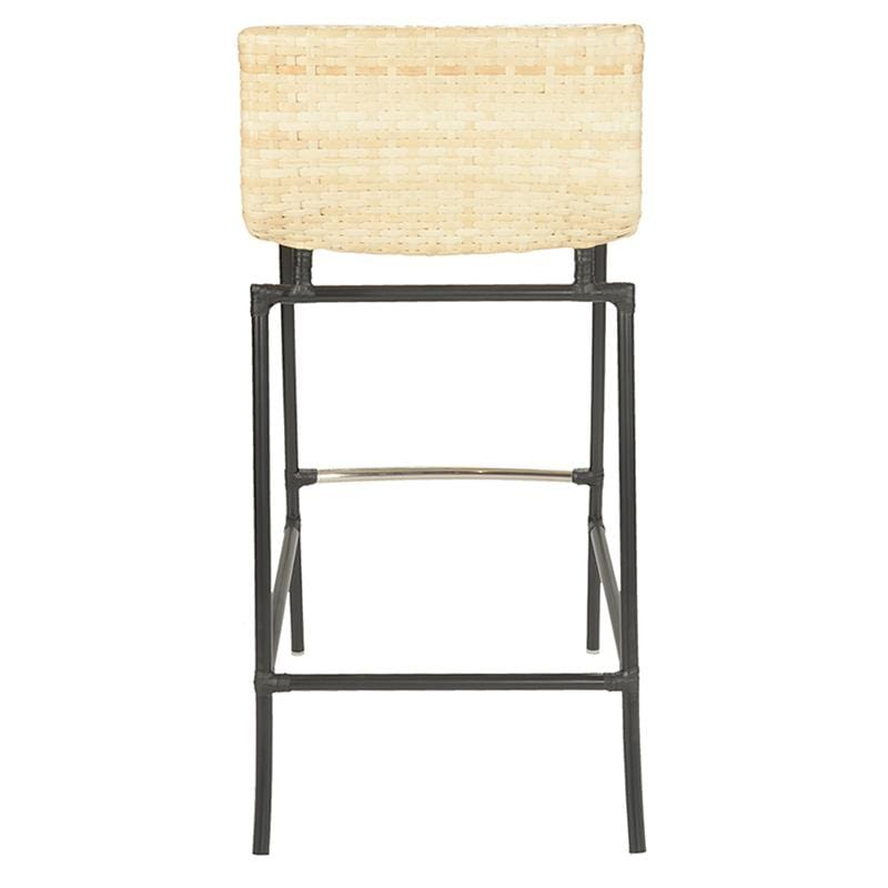 Cologne Leather Barstool