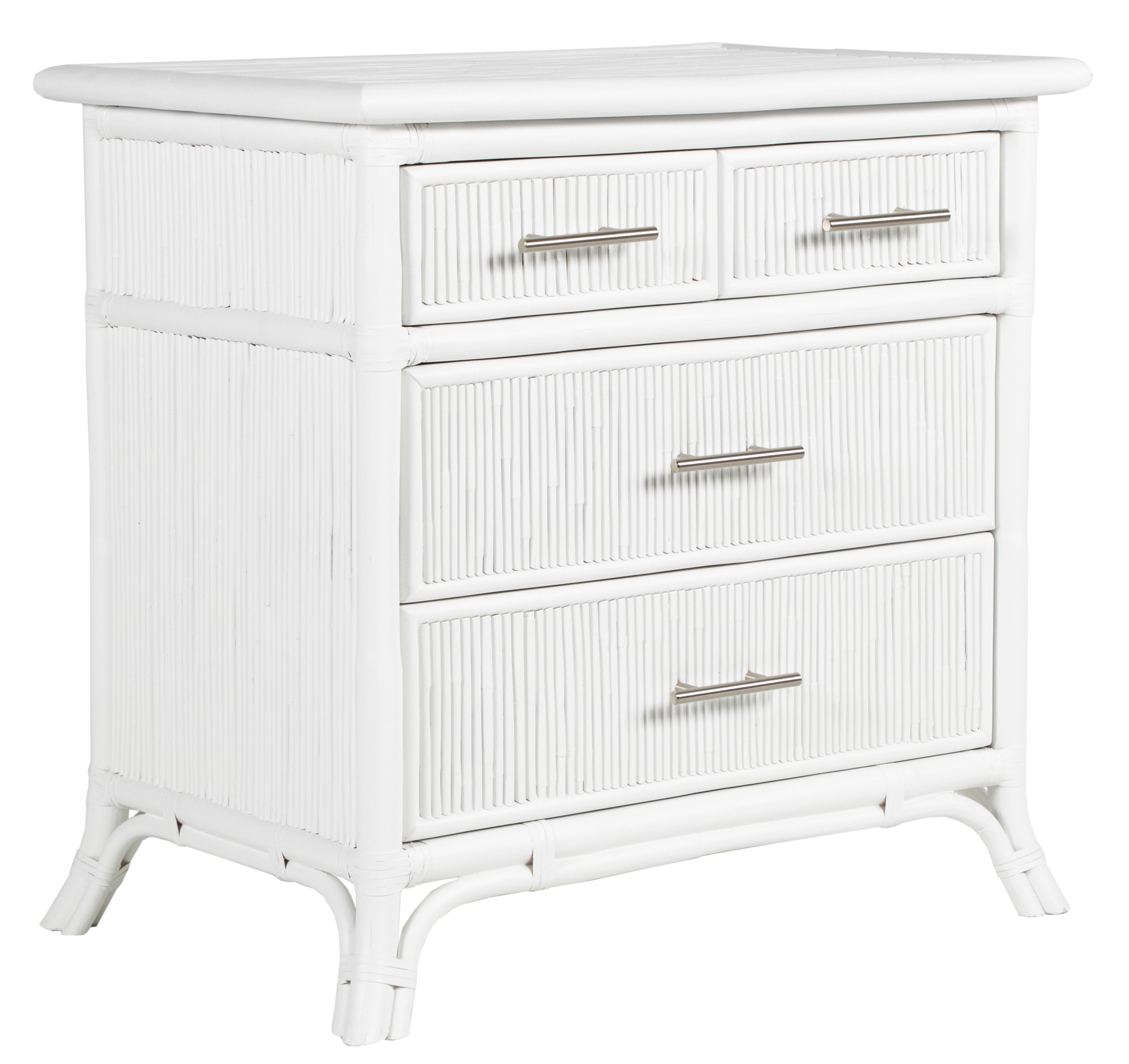 B2015_Pencil_Rattan_4-Drawer_Chest_Brushed_Nickel_Hardware_White_3Q_Front_View.jpg