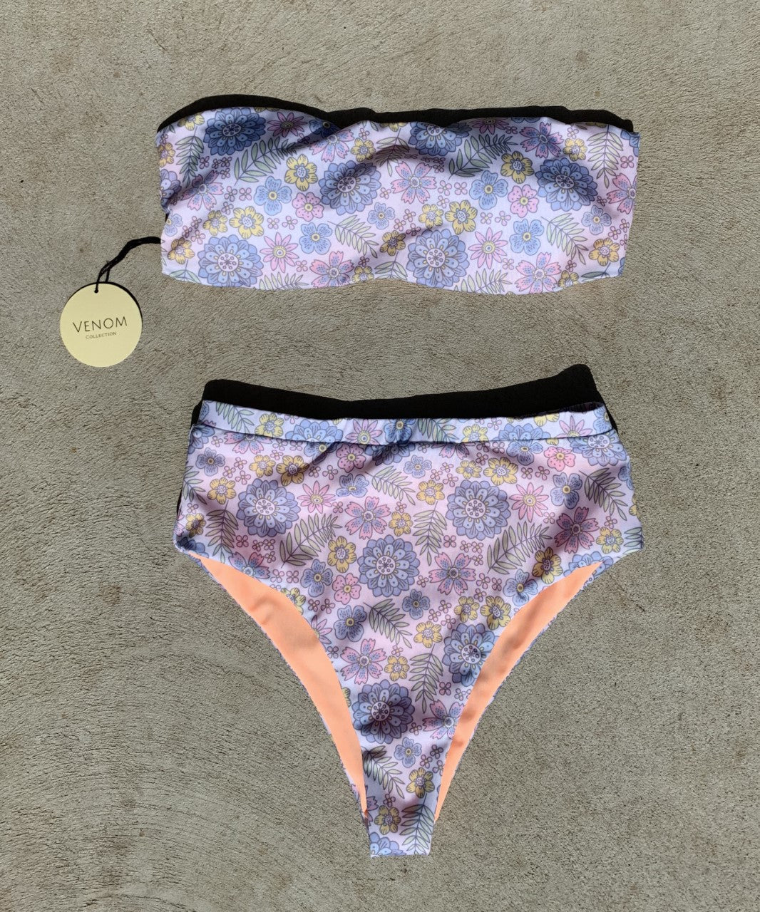 Ari High Waisted Bottoms - Floral/Orange