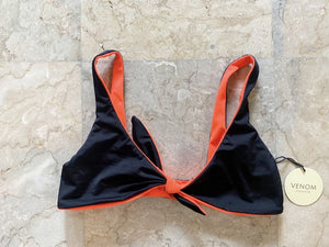 Mia Top - Red Orange/Black