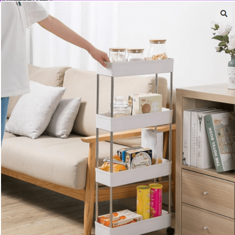 Image of Kitchen Storage Rack Side Shelf with Wheels