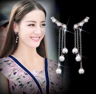 Earrings Tassel with Pearl Earrings for Women