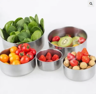 5 Pcs Stainless Steel Food Storage Bowls