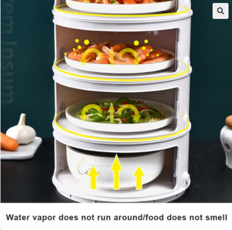 Image of Stackable Food Insulation Cover Storage