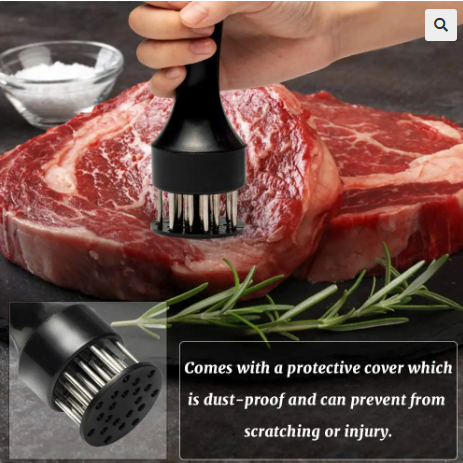 Image of Meat Tenderizer Tool 21 Stainless Steel Sharp Needle Kitchen Tools