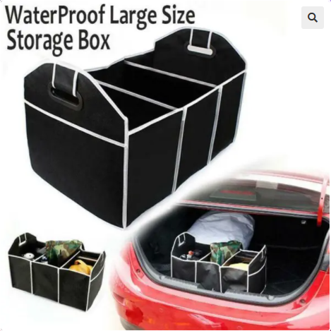 Image of Foldable Car Trunk Organizer
