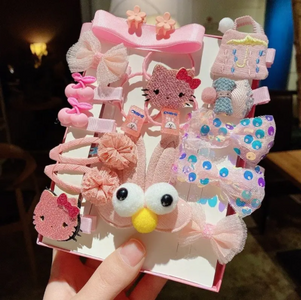18 Pcs/Box Random Cartoon Baby Hair Clips