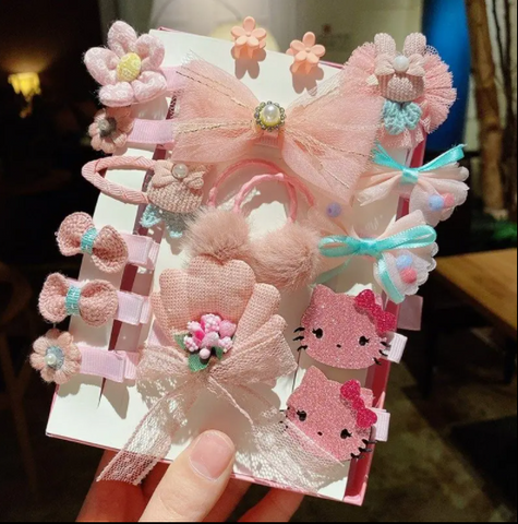 Image of 18 Pcs/Box Random Cartoon Baby Hair Clips