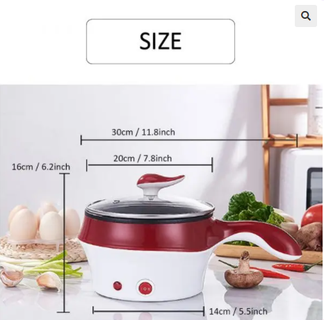 Image of Mini Multifunction Electric Cooking Machine Frying Pan Double Layer
