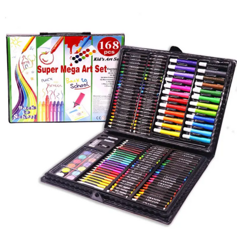 Image of 168 PCS Kids Colored Art Supplies Kit