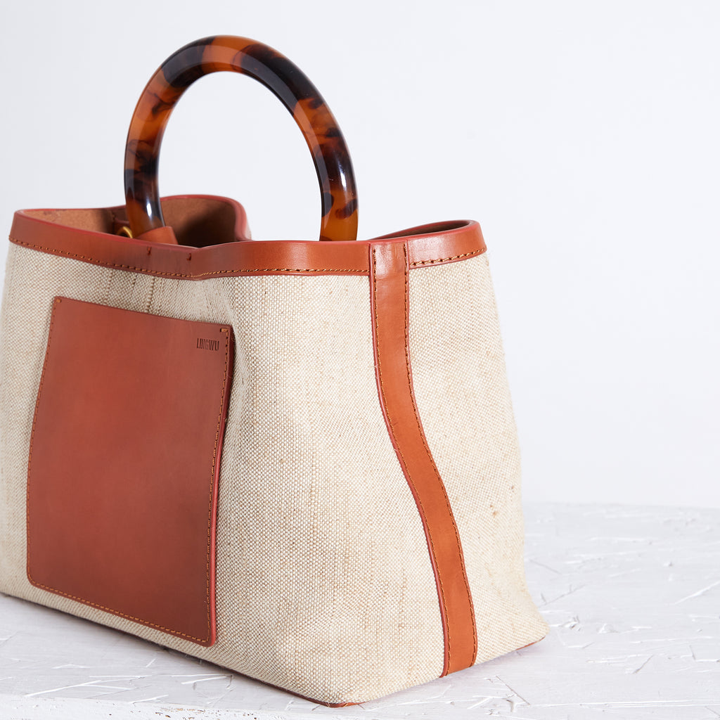 "Miller 9"" Tan Canvas With Front Pocket"