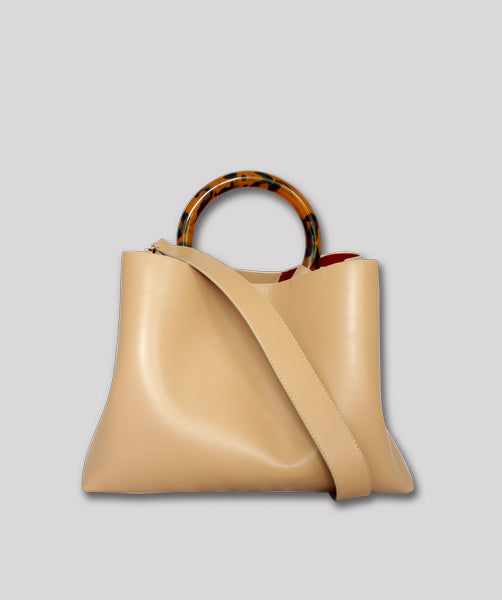 Miller Large Leather Nude